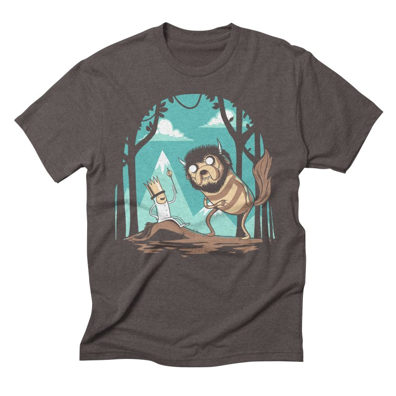 Where the Wild Adventures Are Men's Triblend T-Shirt by Drawsgood Illustration and Design