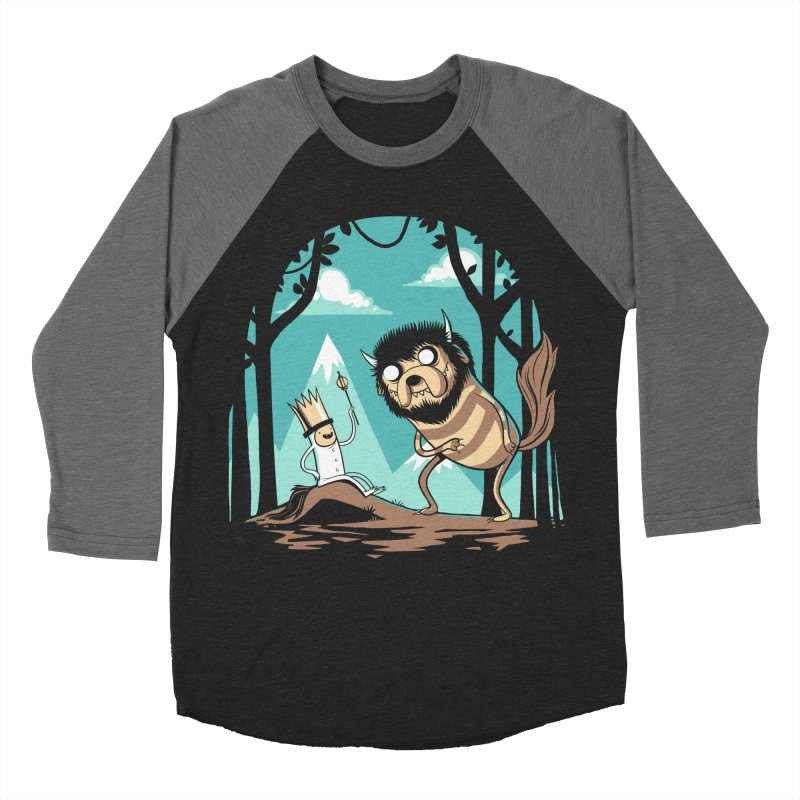 Where the Wild Adventures Are Men's Baseball Triblend T-Shirt by Drawsgood Illustration and Design