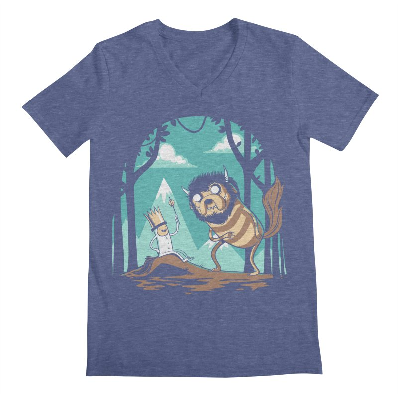 Where the Wild Adventures Are Men's V-Neck by Drawsgood Illustration and Design