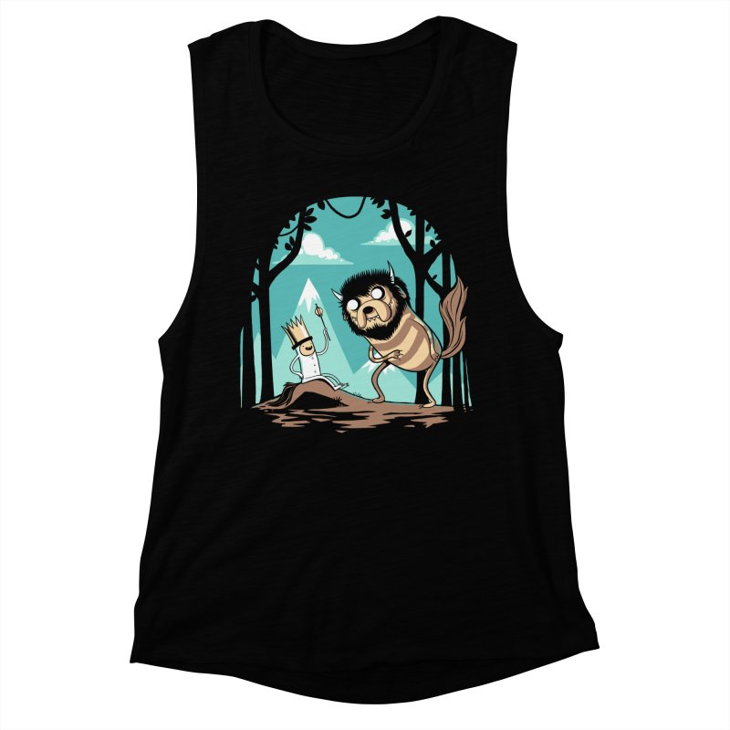 Where the Wild Adventures Are Women's Tank by Drawsgood Illustration and Design