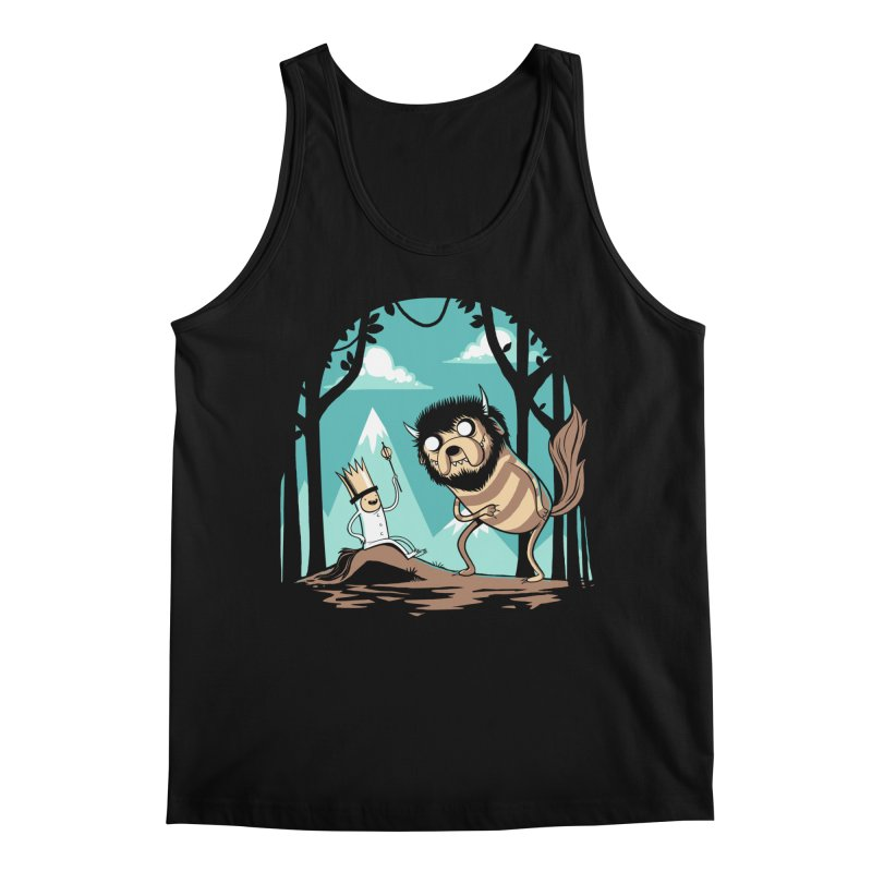 Where the Wild Adventures Are Men's Regular Tank by Drawsgood Illustration and Design