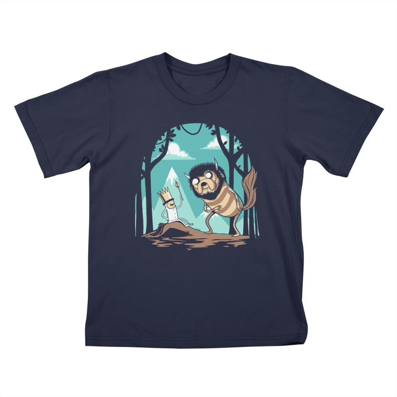 Where the Wild Adventures Are Kids T-Shirt by Drawsgood Illustration and Design