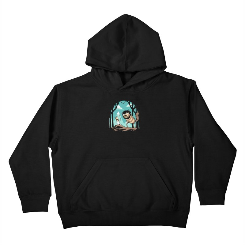 Where the Wild Adventures Are Kids Pullover Hoody by Drawsgood Illustration and Design