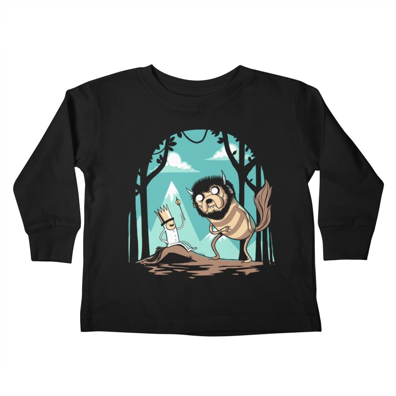 Where the Wild Adventures Are Kids Toddler Longsleeve T-Shirt by Drawsgood Illustration and Design