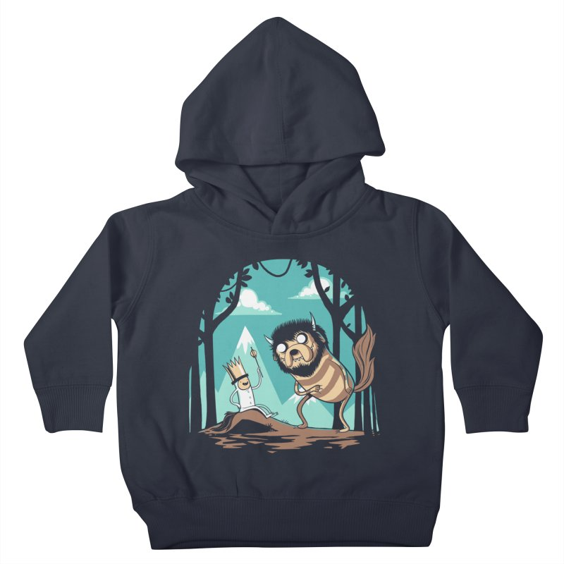 Where the Wild Adventures Are Kids Toddler Pullover Hoody by Drawsgood Illustration and Design