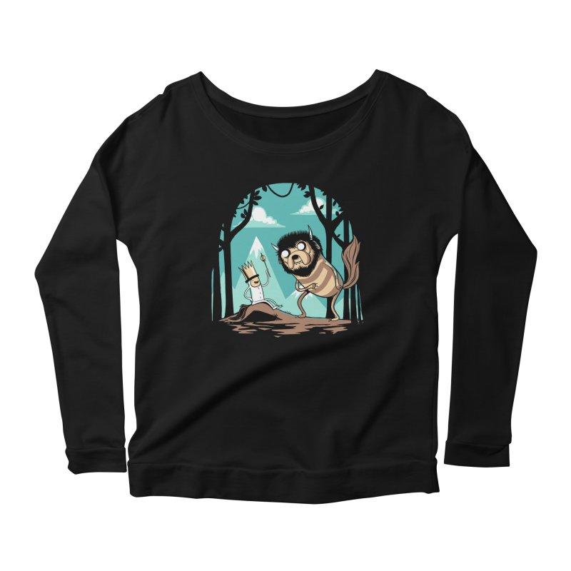 Where the Wild Adventures Are Women's Longsleeve T-Shirt by Drawsgood Illustration and Design