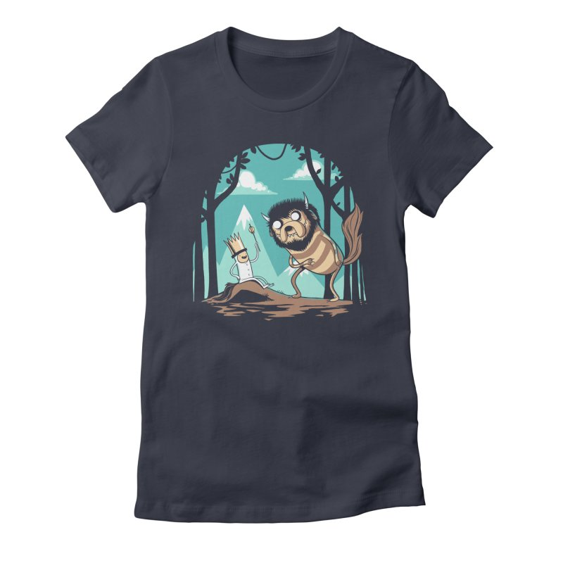 Where the Wild Adventures Are Women's Fitted T-Shirt by Drawsgood Illustration and Design