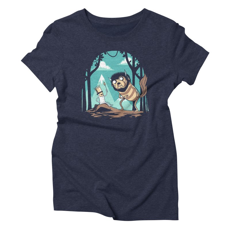 Where the Wild Adventures Are Women's Triblend T-Shirt by Drawsgood Illustration and Design