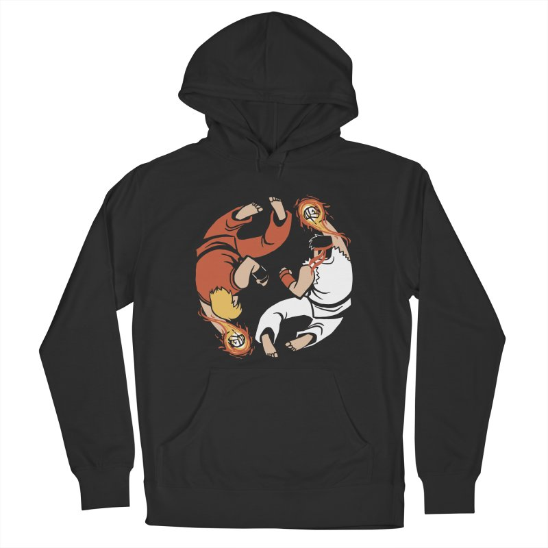 Super Yin Yang Men's French Terry Pullover Hoody by Drawsgood Illustration and Design