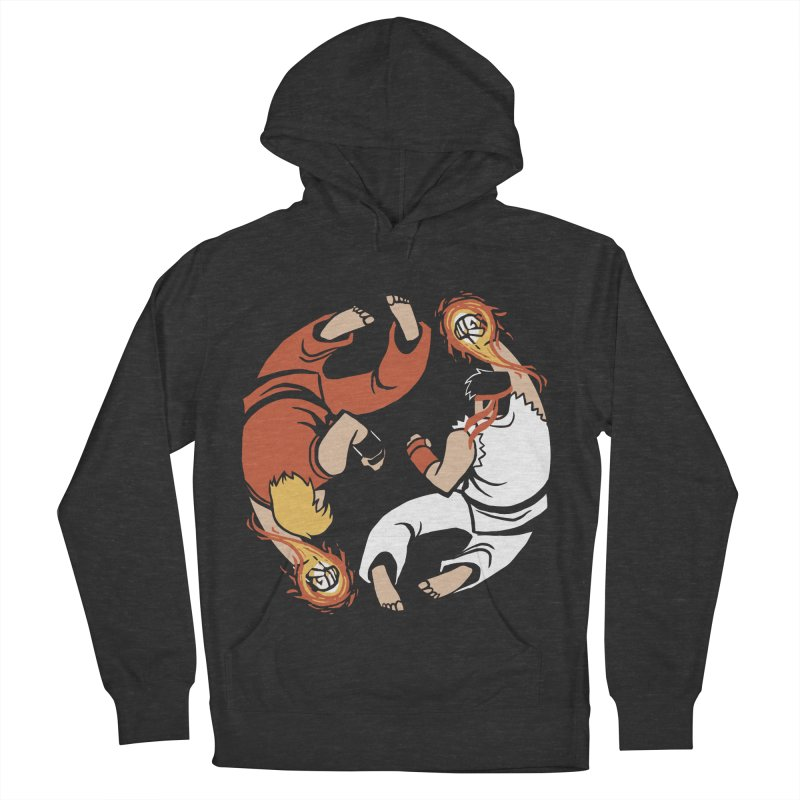 Super Yin Yang Women's French Terry Pullover Hoody by Drawsgood Illustration and Design