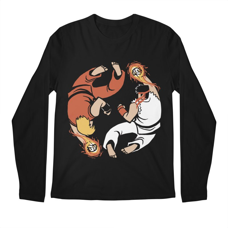 Super Yin Yang Men's Longsleeve T-Shirt by Drawsgood Illustration and Design