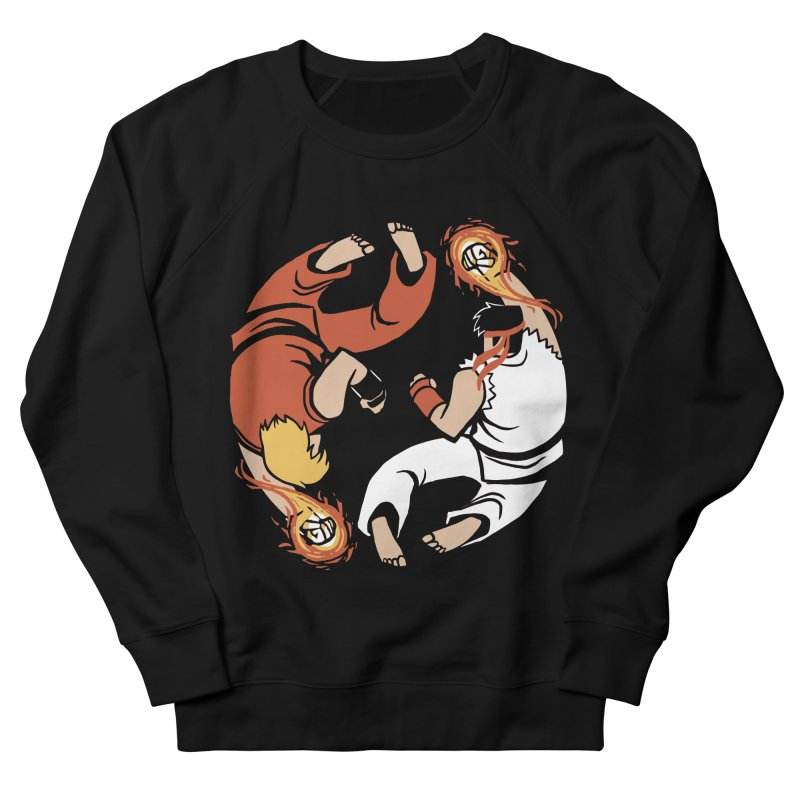 Super Yin Yang Women's French Terry Sweatshirt by Drawsgood Illustration and Design