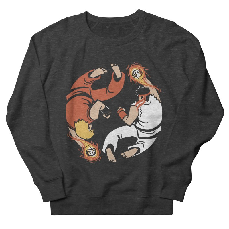 Super Yin Yang Men's French Terry Sweatshirt by Drawsgood Illustration and Design