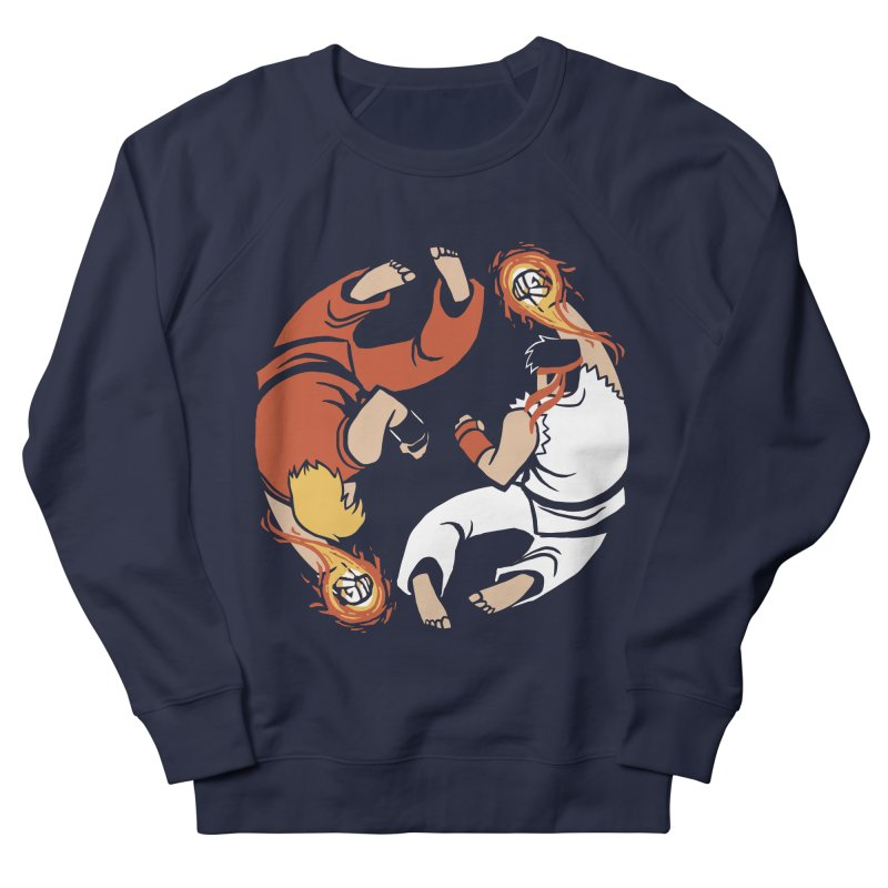 Super Yin Yang Men's French Terry Sweatshirt by Drawsgood Illustration and Design