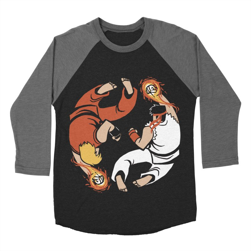 Super Yin Yang Men's Baseball Triblend T-Shirt by Drawsgood Illustration and Design