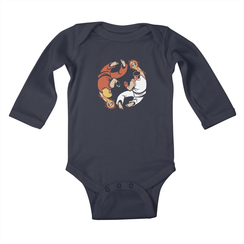 Super Yin Yang Kids Baby Longsleeve Bodysuit by Drawsgood Illustration and Design