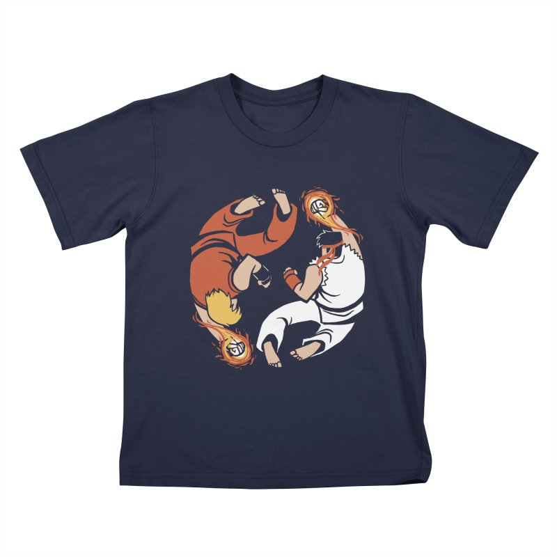 Super Yin Yang Kids T-Shirt by Drawsgood Illustration and Design