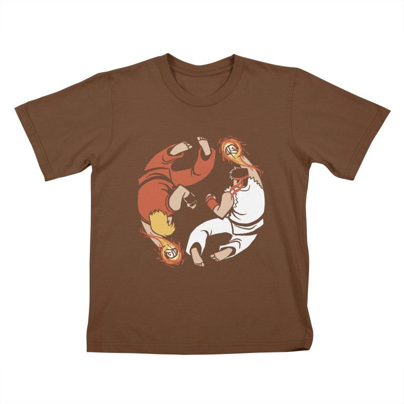 Super Yin Yang Kids T-shirt by Drawsgood Illustration and Design