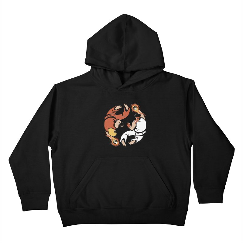 Super Yin Yang Kids Pullover Hoody by Drawsgood Illustration and Design