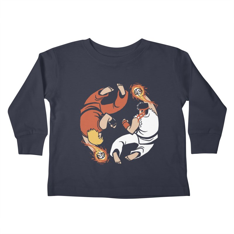 Super Yin Yang Kids Toddler Longsleeve T-Shirt by Drawsgood Illustration and Design