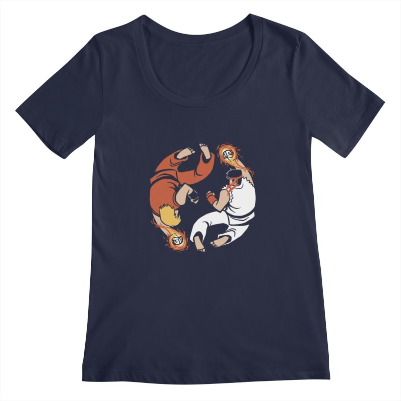 Super Yin Yang Women's Scoopneck by Drawsgood Illustration and Design