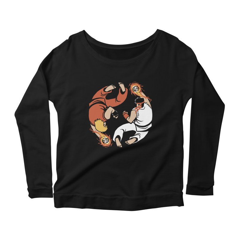 Super Yin Yang Women's Scoop Neck Longsleeve T-Shirt by Drawsgood Illustration and Design