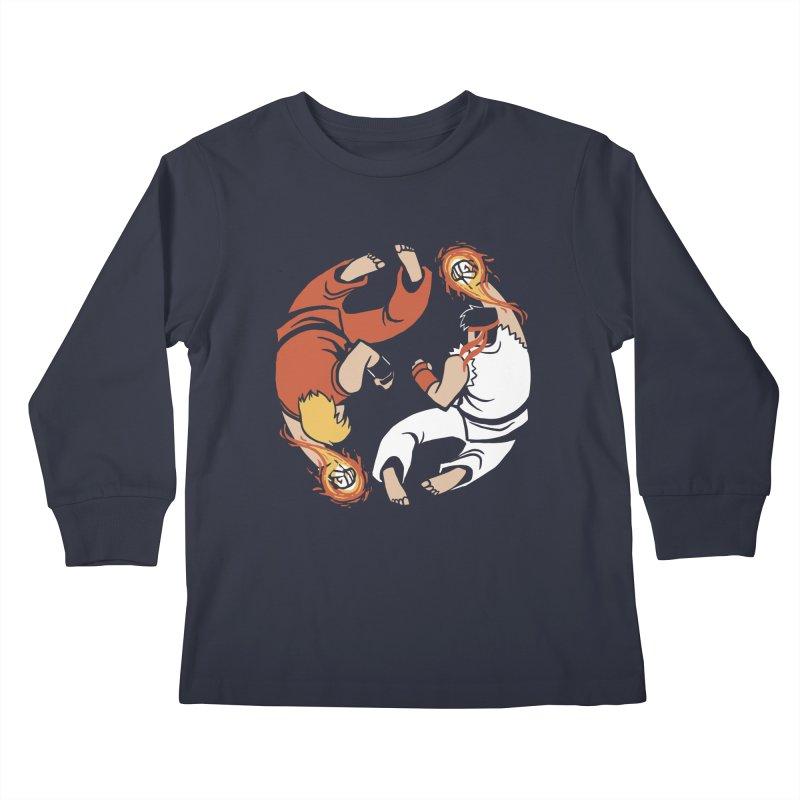 Super Yin Yang Kids Longsleeve T-Shirt by Drawsgood Illustration and Design