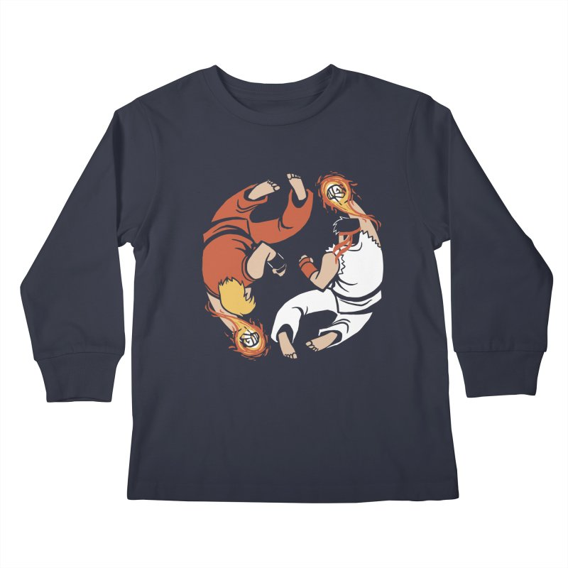 Super Yin Yang Kids Longsleeve T-Shirt by Drawsgood Illustration and Design