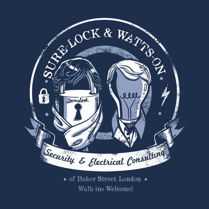 Sure-Lock & Watts-On Consulting Men's V-Neck by Drawsgood Illustration and Design