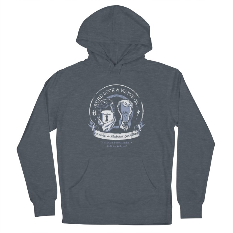Sure-Lock & Watts-On Consulting Men's Pullover Hoody by Drawsgood Illustration and Design
