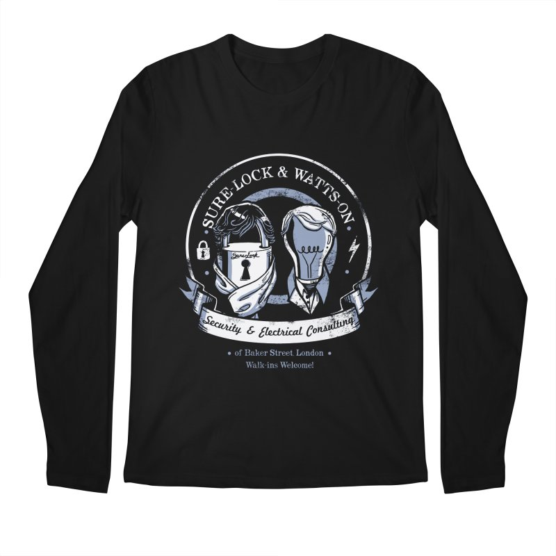 Sure-Lock & Watts-On Consulting Men's Regular Longsleeve T-Shirt by Drawsgood Illustration and Design