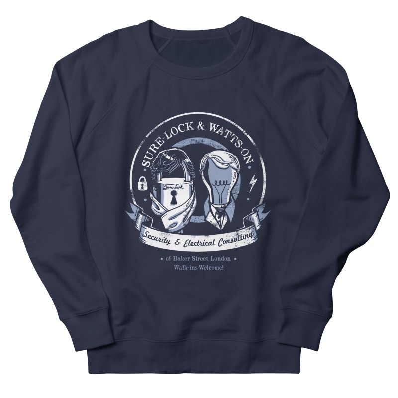 Sure-Lock & Watts-On Consulting Men's French Terry Sweatshirt by Drawsgood Illustration and Design