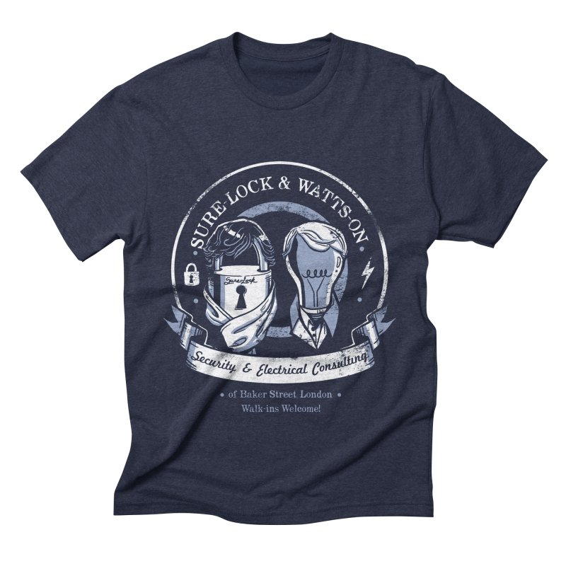 Sure-Lock & Watts-On Consulting Men's Triblend T-shirt by Drawsgood Illustration and Design