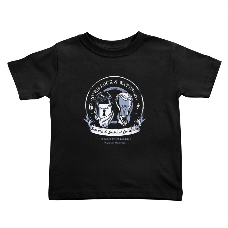 Sure-Lock & Watts-On Consulting Kids Toddler T-Shirt by Drawsgood Illustration and Design