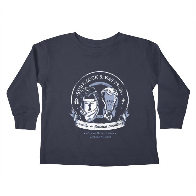 Sure-Lock & Watts-On Consulting Kids Toddler Longsleeve T-Shirt by Drawsgood Illustration and Design