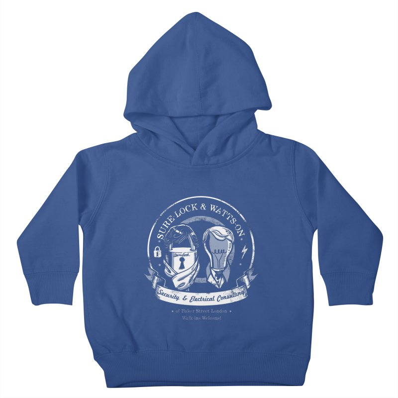 Sure-Lock & Watts-On Consulting Kids Toddler Pullover Hoody by Drawsgood Illustration and Design