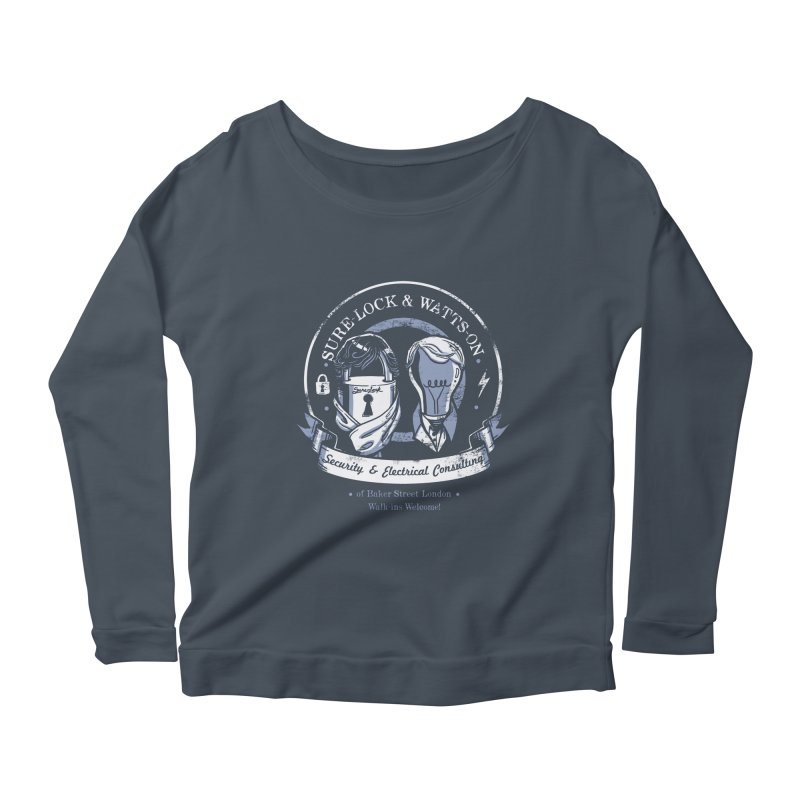Sure-Lock & Watts-On Consulting Women's Longsleeve Scoopneck  by Drawsgood Illustration and Design