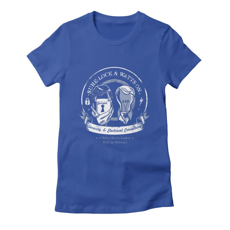 Sure-Lock & Watts-On Consulting Women's Fitted T-Shirt by Drawsgood Illustration and Design