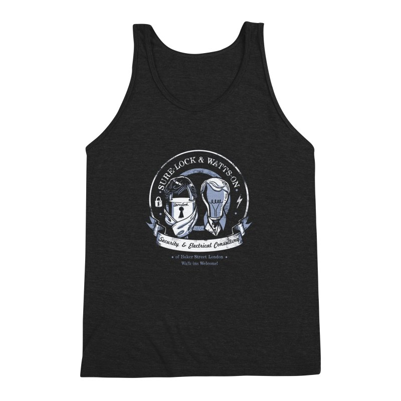 Sure-Lock & Watts-On Consulting Men's Triblend Tank by Drawsgood Illustration and Design