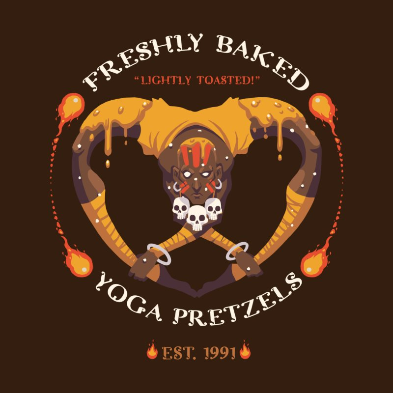 Yoga Pretzels Men's T-Shirt by Drawsgood Illustration and Design