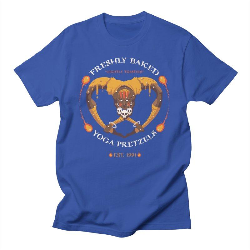 Yoga Pretzels Men's T-Shirt by Drawsgood Illustration and Design
