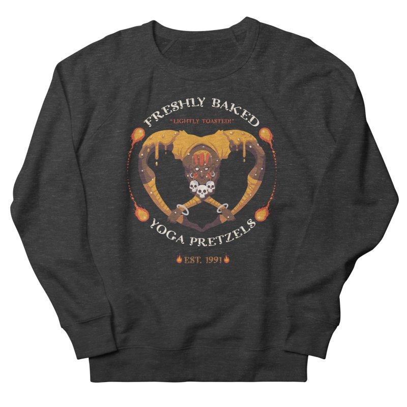 Yoga Pretzels Men's Sweatshirt by Drawsgood Illustration and Design