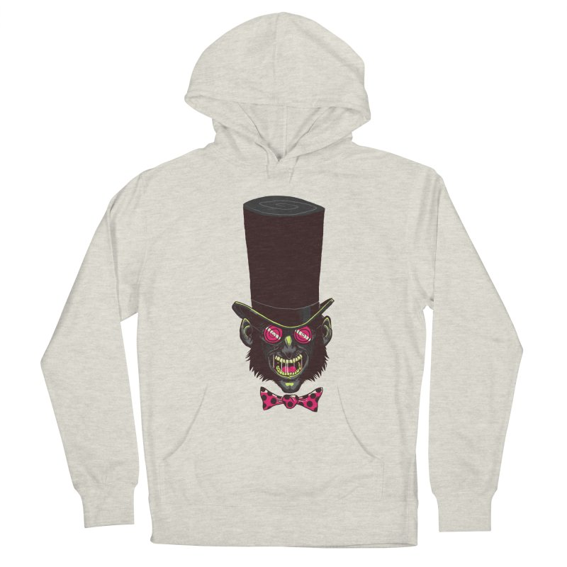 Mad Hatter Women's French Terry Pullover Hoody by Drawsgood Illustration and Design