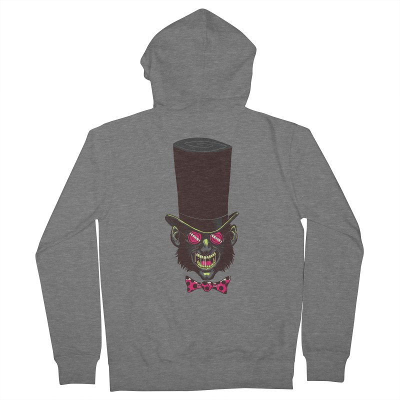 Mad Hatter Women's French Terry Zip-Up Hoody by Drawsgood Illustration and Design