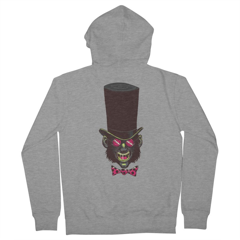 Mad Hatter Men's Zip-Up Hoody by Drawsgood Illustration and Design