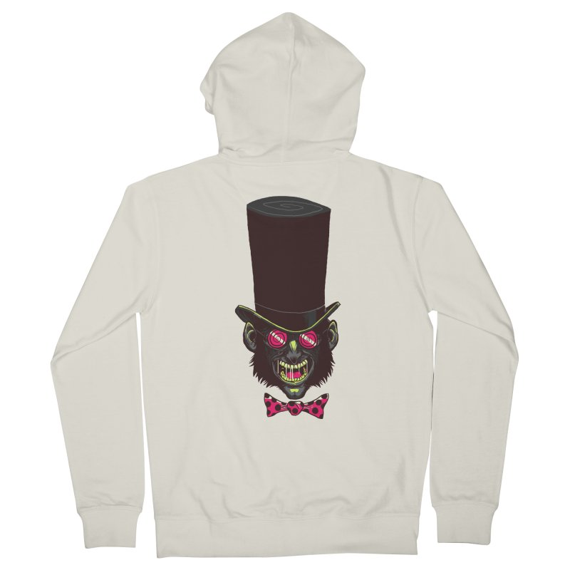 Mad Hatter Men's French Terry Zip-Up Hoody by Drawsgood Illustration and Design