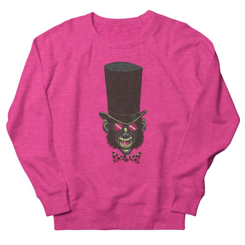 Mad Hatter Women's French Terry Sweatshirt by Drawsgood Illustration and Design