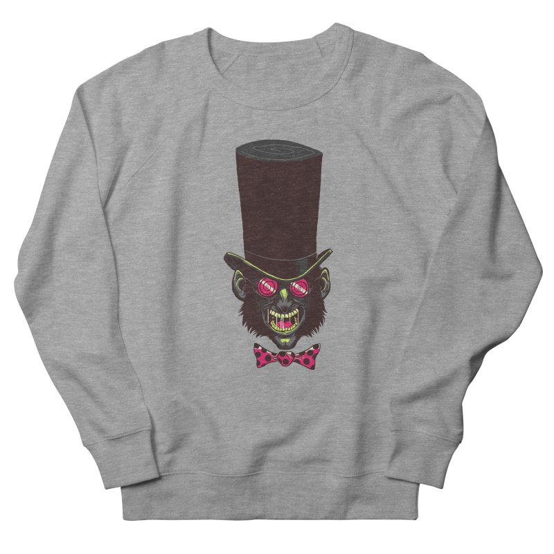 Mad Hatter Men's French Terry Sweatshirt by Drawsgood Illustration and Design