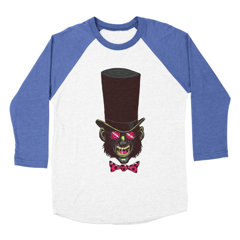 Mad Hatter Women's Baseball Triblend Longsleeve T-Shirt by Drawsgood Illustration and Design