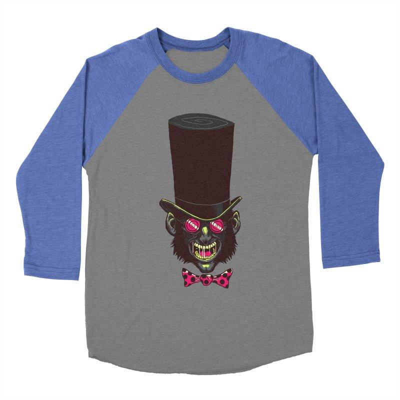 Mad Hatter Men's Baseball Triblend T-Shirt by Drawsgood Illustration and Design